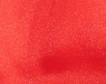 Twinkle Crepon Organza Orange Red 44 Inch Fabric by the Yard - 1 yard
