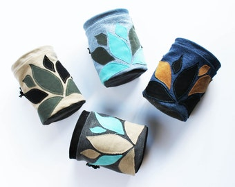 Flowy Leaves - Upcycled Chalk Bag - Rock Climbing