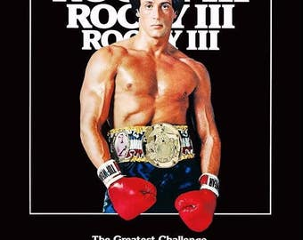 ROCKY III Reproduction Counter Top Stand-Up Display - Collectibles Collection Collector Memorabilia Action Movies Gift Idea Frameable kiss76