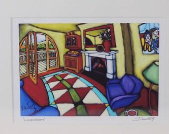 Framed Art Print, Wall Art, Home Decor, Gicleé Print, Daniel Ng: Living Room Giclee Print Signed