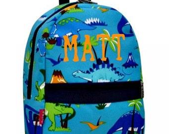 Personalized Little Boys Backpacks/Dinosaur/Cars and Trucks/Birthday gift/Pre-K -1st grade/