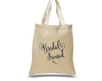 Bridal Party Canvas Tote Bag