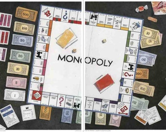 Bet Borgeson-Monopoly Diptych-1985 Poster