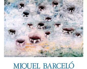 Miquel Barcelo-Fifteeen Holes-1987 Poster