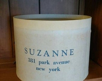 Vintage New York City hat box,Manhattan memorabilia, vintage fashion hat box, 381 Park Ave