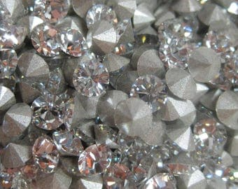 Swarovski Crystal Pointed Back Rhinestone 24SS, 5MM Jewelry Repair, Crystal Clay Project, Assemblage