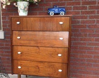 Mid Century Modern Dresser with Angled Drawers