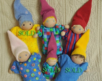 SALE! Fretta's Waldorf Baby Bunting Dolls, Mini Babies, child first dolls ONLY 3 LEFT