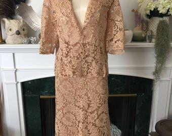 50s Chantilly Lace Elegant 2pc dress Set