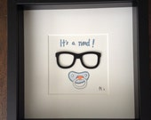 "It's a Nerd! (BOY) Unique original gift 9"" x 9"" nerd Wall Art"