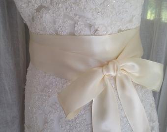 NEW-LOW PRICE-Wedding Sash-Sash-Wedding Belt-Bridal Belt-Bridal Sash-cummerbunds-Satin sash-Satin belt-belt-Ivory belt-Bridal White Sash