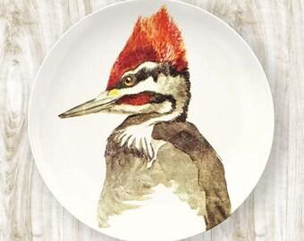 woodpecker II melamine plate