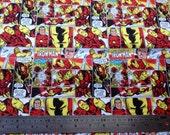 Ironman Fabric Fat Quarter 100% Cotton