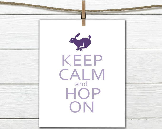 Easter Print Hop On Digital Instant Download 8x10