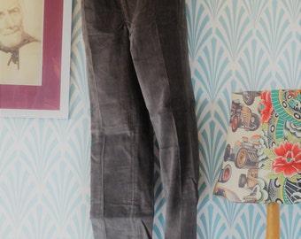 """8. 2 pcs 70s Conycord corduroy pants grey (W35-L100cm+W36-L99cm / W13.8-L39.4""""+W14.2-L39"""")"""