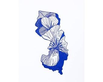 Letterpress New Jersey Violet