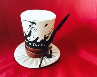 Tiny Top Hat: The Writer - Lolita Cosplay Costume Party Fascinator Photo Photography Prop Wedding Tophat Small Mini Miniature little