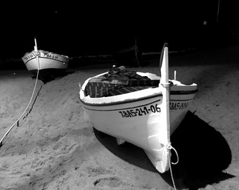 White boat.