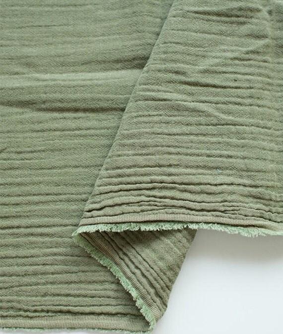 Wrinkled Cotton Gauze Double Gauze Khaki Color Gauze