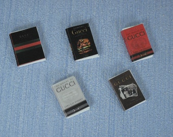 NEW Gaël Miniature decorative Coffee Table Books of fashion and home decor   1:12 Scale Or 1/6 Scale   Dollhouse Miniature magazine