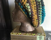 Super slouchy tri-colored rasta beanie - adult