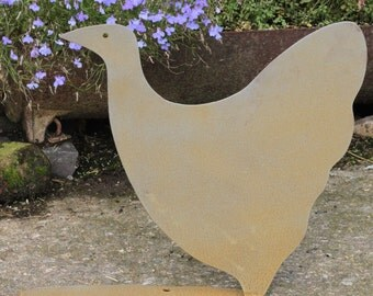 A Metal Chicken Garden Ornament Called Clarissa