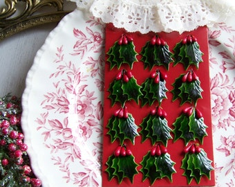 Holly Leaf and Berries Decoration, Holiday Decorations, Holly, Berries, Christmas Holly, Holly Berries, Holiday, Holiday Home, Country Holly