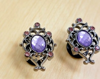 Princess plugs in Lilac - 4g - 9/16 inch