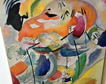 Kandinsky's tile print Improvisation 31 Sea Battle