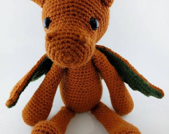 READY TO SHIP - Dragon Amigurumi