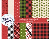 80% OFF - INSTANT DOWNLOAD, lumberjack plaid digital papers for planner stickers, products, and crafts