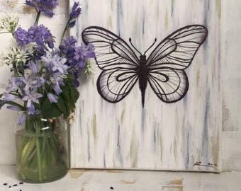 Original Butterfly Painting on Canvas