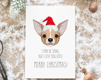 Chihuahua Holiday Cards, Christmas Cards, Xmas, Dogs, unique and hipster, personalization, geometric, minimal