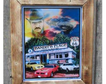 Framed laminated handsigned Bandit's Place 8-10 print