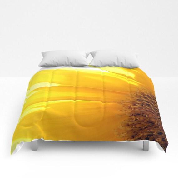 Sunflower 2, Comforter, Bedspread, Bedding, Bedroom Decor, Photography, Floral Bedding, Queen Comforter
