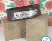 Courage Leather Chick Cuff