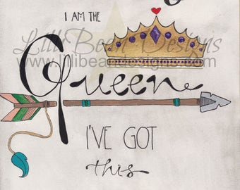 I don't need saving, I am the QUEEN + I've got this HANDLED - Art Print