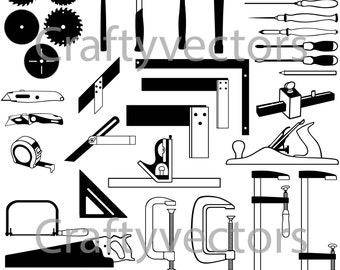 Carpentry Hand Tools Vector File SVG