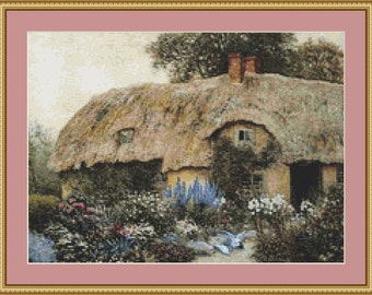 A Worcestershire Cottage Cross Stitch Pattern