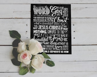 "Chalkboard Art ~ Song ""What a Beautiful Name"""