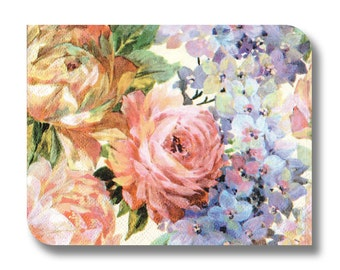 Floral napkin for decoupage, mixed media art, scrapbooking, paper arts and crafts x 1. Pretty flowers. No 1007