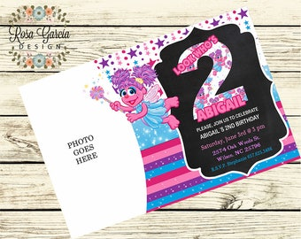 ABBY Cadabby BIRTHDAY INVITATION - Birthday Party Invitation - Digital File - Fully Customized - Abby Cadabby Birthday Party