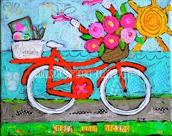 Bike Print, Bicycle art print, Bicycle decor