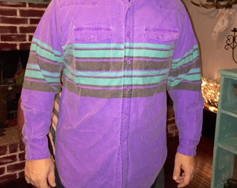 Frontier Series/Vintage/Punchy/Fun Purple/Western Long Sleeve/Button Up