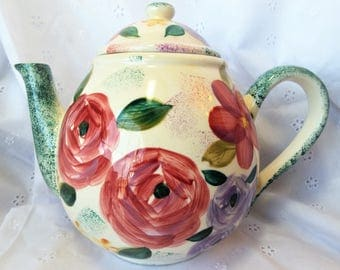 Rose Teapot Hand Painted for Flowers INC
