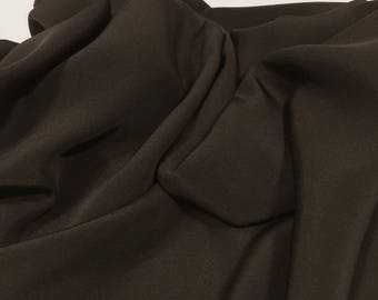 Brown Silk Fabric, 100% Silk Material, Remnant Fabric, Flowy Material, Table Runner, Opaque Fabric