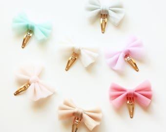 Tulle Bow Hairclip or Headband