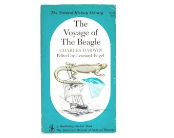 Voyage of the Beagle by Charles Darwin 1962 Vintage Doubleday Anchor and American Museum of Natural History Book Edited by Leonard Engel