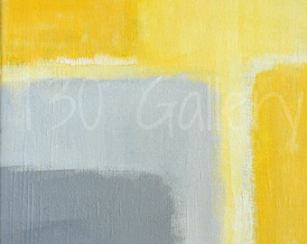Digital Download - Inspired, Grey and Yellow Abstract Artwork