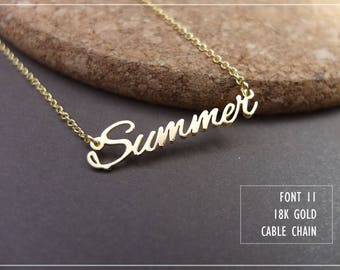 20% off //Font 11 // Personalized Any Name Necklace- Sterling Silver- 18K Gold-rose Gold plated -Bridesmaid -mother- Christmas gift.